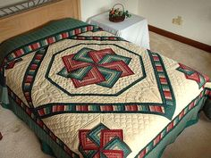 Autumn Star Spin Quilt | Quilting | Pinterest | Spin, Autumn and Star : amish star spin quilt pattern - Adamdwight.com