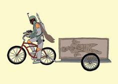 """""""Riding solo"""" hahaha"""