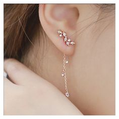(15) Korean style earring Super cute Jewelry Earrings | My Posh Picks... ❤ liked on Polyvore featuring jewelry, earrings, earring jewelry and earrings jewellery