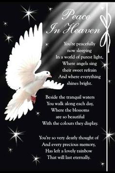 Peace In Heaven love quotes quotes quote religious quotes miss you sad death i…