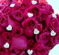 Add small diamonds to your wedding bouquet!