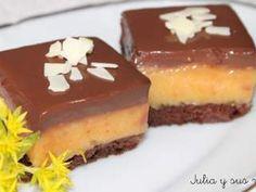 Cuadraditos de naranja y chocolate, Receta Petitchef