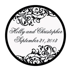 Personalized Black & White Wedding Favor Stickers - OrientalTrading.com - 80 Personalized stickers: $8.00