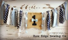 BOW TIE Birthday High Chair Highchair Banner by RawEdgeSewingCo