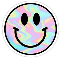 Trippy Smiley Sticker