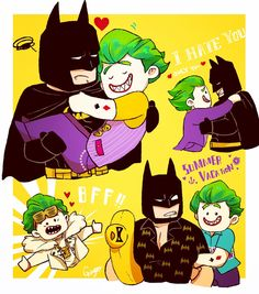 Joker x batman :,)
