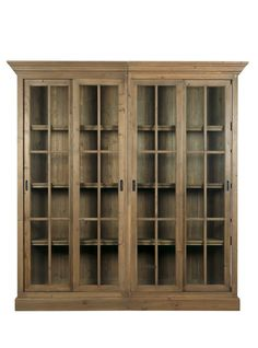 classic style bookcase PIN BLANC D'IVOIRE