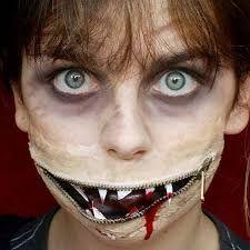 Halloween: Zipper face   Halloween Make-up   Pinterest   Zipper ...