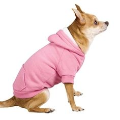 Fleece-Lined Dog Hoodie in Pink #DogHoodie #dog #poshpuppyboutique