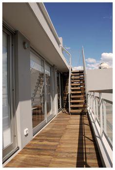 Terraza en Palermo Palermo, Garage Doors, Stairs, Exterior, Outdoor Decor, Home Decor, Terrace, Stairway, Decoration Home