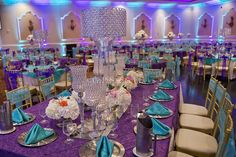 Purple And Turquoise Wedding Centerpieces Purple & turquoise victorian