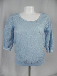 Deb-Blue-Floral-Knit-3-4-Sleeve-Blouson-Blouse-D1-12