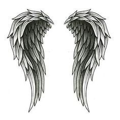 cross with angel wings tattoos - Google Search