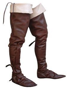 Riding boots, late 1300 - 1400