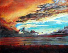 "Ingrid Dohm; Acrylic, 2005, Painting ""Sky Water"""