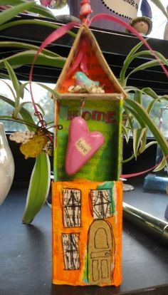 altered match box house open