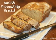 Amish Friendship Bread!...Starter recipe included! This bread is so yummy!