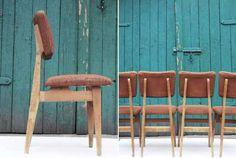 60 zł: Krzesło pochodzi z lat 60/70. XX wieku. Konstrukcja stabilna, drewno zdrowe, do przeszlifowania, tapicerka do wymiany.   Dostępne 4 sztuki / podana cena dotyczy jednej sztuki. Możliwość wysyłki. ...