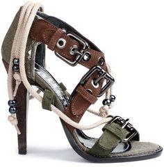 JOHN GALLIANO - Galliano Shoes in Olive (B)