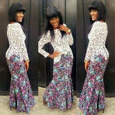 We all know how famous and domineering the Ankara fabric is especially in recent times as we at WDN usually, from time to time feature some beautiful styles made from… African Dresses For Women, African Attire, African Fashion Dresses, African Wear, African Women, African Outfits, Ankara Fashion, African Lace, Ankara Dress Styles