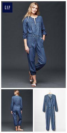 Jean Moda, Stylish Outfits, Fashion Outfits, Estilo Jeans, Dressmaker, Designs For Dresses, Playsuit Romper, Denim Jumpsuit, Denim Top