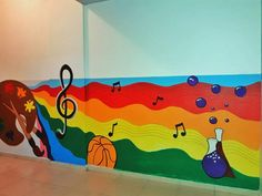 Süslemeler Room Wall Painting, Mural Painting, Mural Art, Wall Murals, Class Decoration, School Decorations, Kindergarten Design, School Murals, School Painting