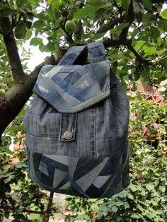 Рюкзаки ручной работы. Ярмарка Мастеров - ручная работа Рюкзак джинсовый школьный 1. Handmade.