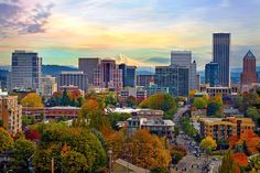 Portland skyline in autumn. Image by David Gn Photography / Moment / Getty