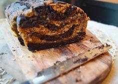Gâteau marbré au potimarron, chocolat noir & châtaigne (sans gluten et sans lactose)  Marble cake : squash, dark chocolate & chestnut (gluten and lactose free)