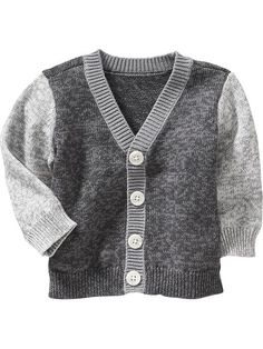 Marled Colorblocked Cardigans for Baby