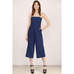 132b9ca03227 Tobi Boss Lady Culotte Jumpsuit (£56) ❤ liked on Polyvore featuring  jumpsuits