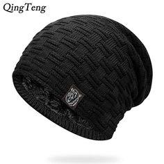 8137e528978 Mens Winter Hat Casual Brand Knitted Ladies Hats Beanies Stocking Hat Plus  Velvet Rasta Cap Skull Bonnet Hats For Men