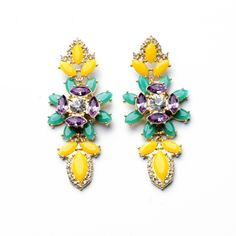 New 2014 Jewelry Fashion Crystal Hot-selling Gold Plated Shourouk Stud Earrings for Women $8.88