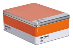 PANTONE Box in Orange - For the design maven within, this metal box celebrates a passion for pigments. This multipurpose storage solution mimics a PANTONE® palette, complete with color, name, and number. Pantone 286, Pantone Orange, Pantone Color, Storage Boxes, Storage Organization, Organizing, Home Interior Accessories, Interior Design, Desktop