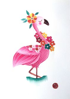 Pink Flamingo Print from My Majestic Boutique