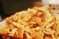 """""""Consider Yourself Warned"""" Snack Mix - I think the name says enough. One bite and you'll be unable to stop!"""