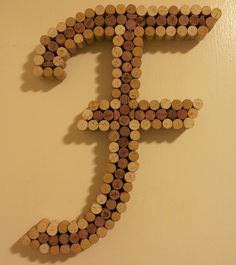 """I just completed and shipped my 1st """"F"""" Corkreation. Turned out pretty Fine. :) https://www.etsy.com/listing/89484894/wine-cork-letter-cork-art-made-to-order?ref=pr_shop"""