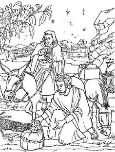 Vluchten Voor Herodes Bible Coloring PagesKids