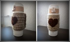 crochet flask cosy/ cozy