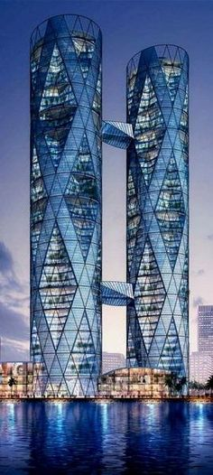 Rosamaria G Frangini | Architecture Skyscrapers | DNA Towers, Gujarat International Finance Tec-City (GIFT), Gandhinagar, India by Ecadi Architects :: 55 floors, height 234m