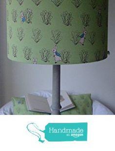 Beatrix Potter Peter Rabbit - Handmade Nursery Ceiling Lampshade 25cm Drum from Evie Eccles Handmade Lampshades https://www.amazon.co.uk/dp/B01M5KO8JZ/ref=hnd_sw_r_pi_dp_ubqhybCYX7QY0 #handmadeatamazon