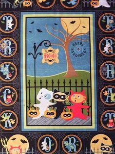 Sherri Berry Trick or Treat Street Fabric Panel | beebers31 | Flickr