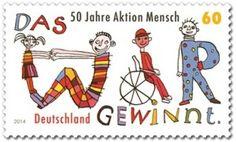 50 Jahre Aktion Mensch: http://d-b-z.de/web/2014/03/22/aktion-mensch-das-wir-gewinnt-briefmarken/
