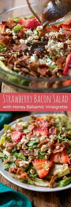 This isone of those salads that's not only perfect for entertaining, but for a quick weekdaylunch or a light dinner! Recipe on sallysbakingaddiction.com