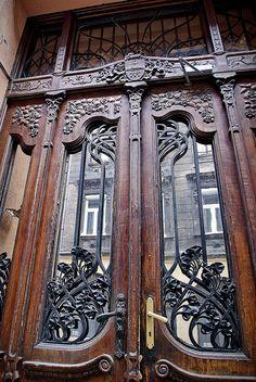 Budapest Art Nouveau Door