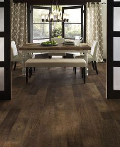 """This Dockside 6"""" x 48"""" Luxury Vinyl Plank is made of high quality vinyl material. It has the appearance of wood and comes in a pier color.   Dockside 6"""" x 48"""" Pier Vinyl Plank 27.39 sq. ft. by Mannington Adura Max Diy Wood Floors, Diy Flooring, Hardwood Floors, Flooring Ideas, Driftwood Flooring, Dark Hardwood, Basement Flooring, Flooring Options, Laminate Flooring"""