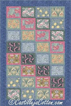 (7) Name: 'Quilting : Flower Boxes Quilt Pattern 4854-1