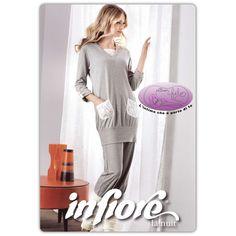 Global Donna Cotone Pigiami Set 100/% Cotone 2-Piece Sleepwear Pigiami Donna Completino Maniche Lunghe in Cotone