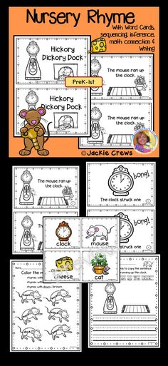 If you are looking for an easy to read nursery rhyme that has differentiated activities this is it. This 18 page product has 15 useable pages. The reader has eight pages that includes a math connection and inference. There are companion pages, too. Reading Resources, Reading Activities, Teacher Resources, Classroom Resources, Teaching Ideas, Creative Teaching, Guided Reading, Elementary Teacher, Elementary Education