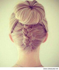 Ballerina bun braid